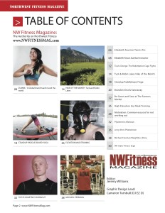 NW Fitness Magazine – Articles from (Cover-Elisabeth Fournier)