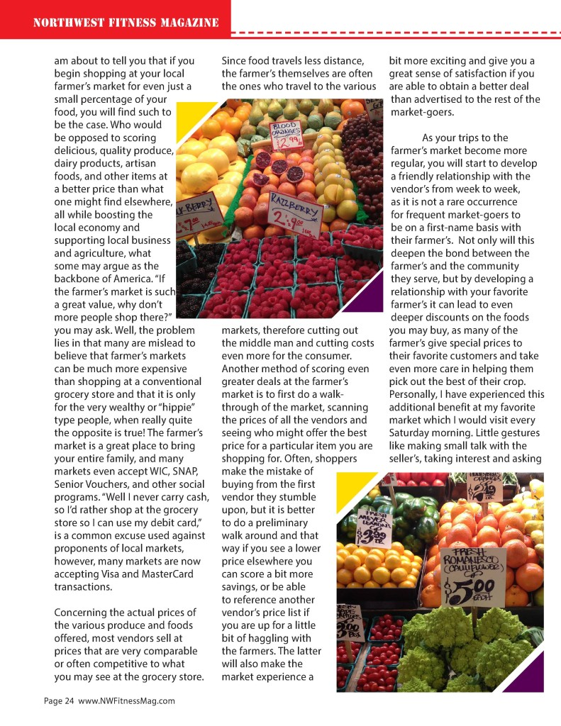 BE GREEN & SAVE GREEN AT THE FARMERS MARKET WHY SHOPPING LOCALLY WILL SAVE YOU MONEY AND THE ENVIRONMENT  Written By: Sofia Sabeti