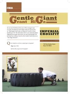 NW Fitness Magazine Gentle Giant Interview with Strongman Grant Higa