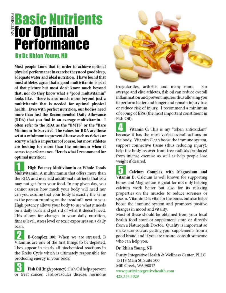 Basic Nutrients for Optimal Performance