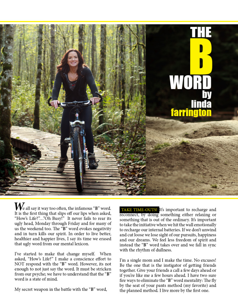"The ""B"" Word - by Linda Farrington"