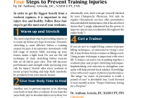 Four Steps to Prevent Training Injuries by Dr Anthony Arreola, DC, NASM CPT, FNS