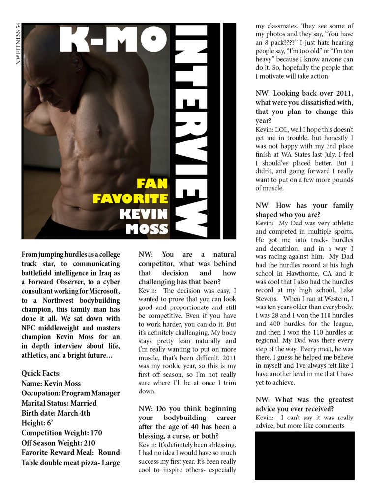~an interview with fan favorite, Kevin Moss