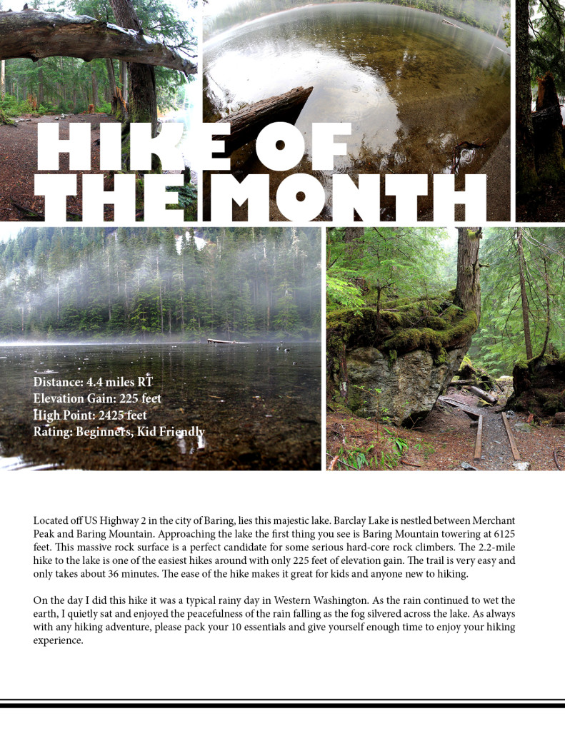 Hike of the Month Barclay Lake  by Daniel Lupastean