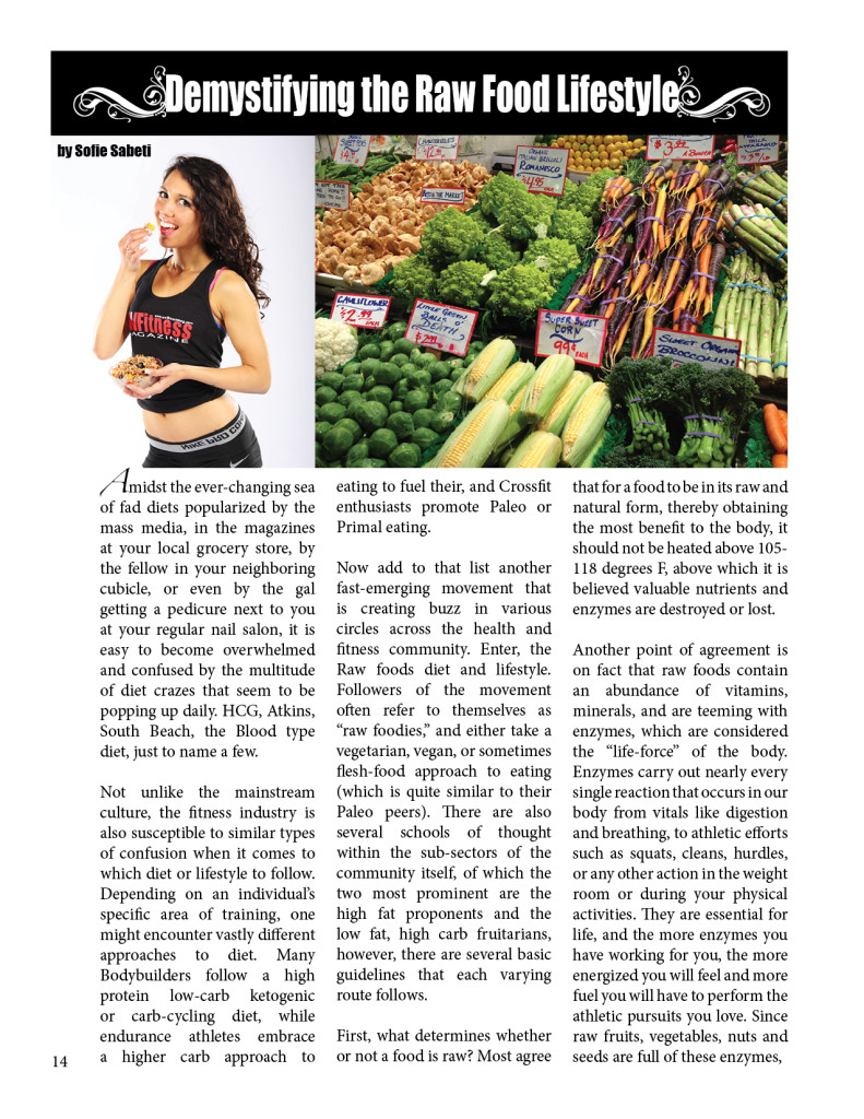 Demystifying the Raw Food Lifestyle  by Sofie Sabeti
