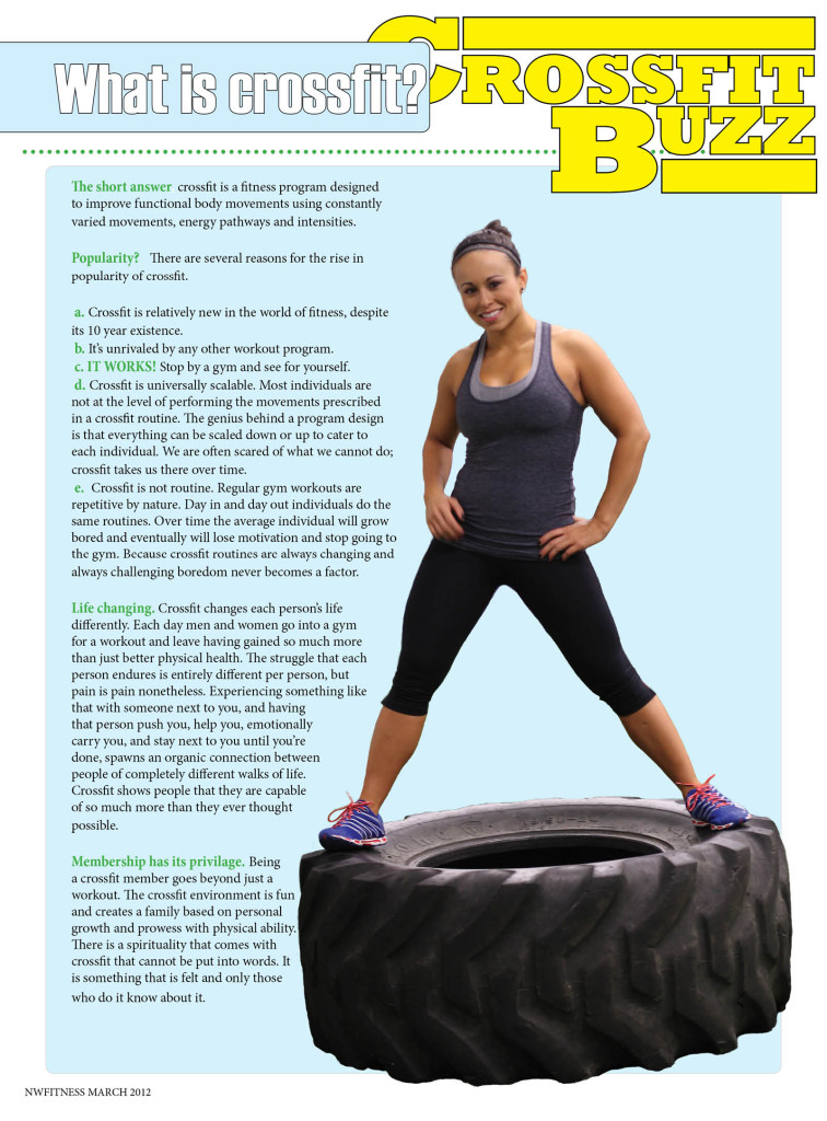 NW Fitness Magazine  Cross Training Buzz, Model Jen Turnbull