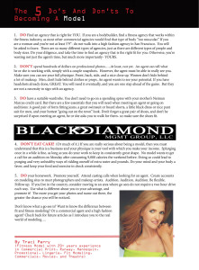NW Fitness Magazine The 5 Do's And Don'ts To Becoming A Model by Traci Perry