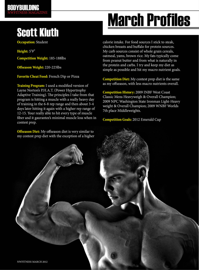 NW Fitness Magazine  March Profile  Scott Kluth