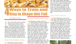 4 Ways to Train and Stay in Shape this Fall
